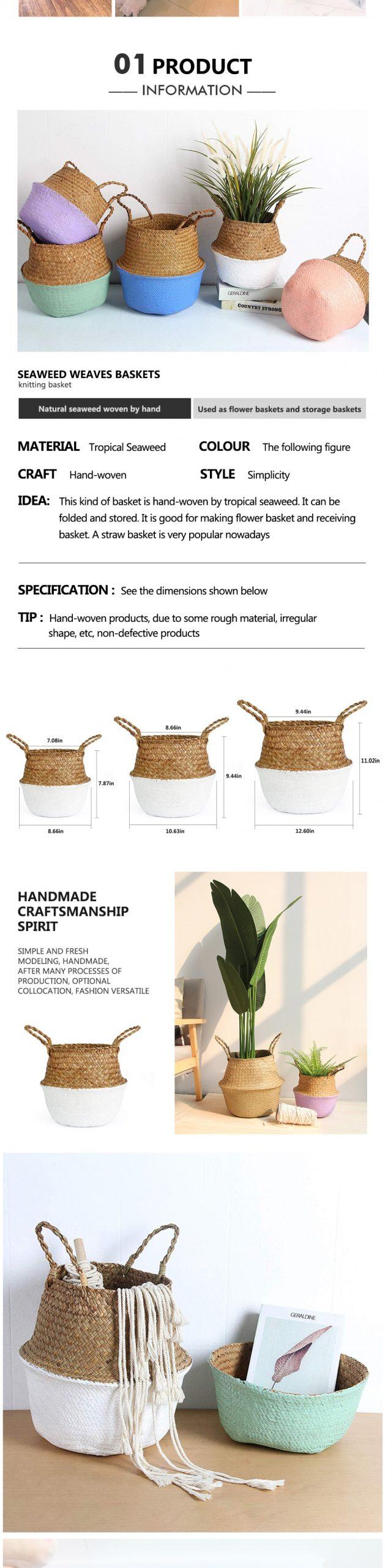 Eco-Friendly Wicker Laundry Basket