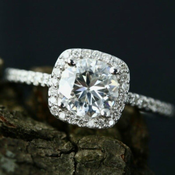 Crystal Decorated Wedding Ring